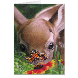 Fawn and Butterfly Note Card