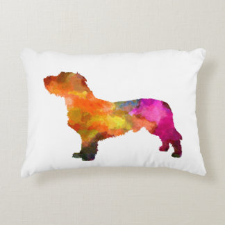 Fawn Brittany Basset in watercolor Decorative Cushion