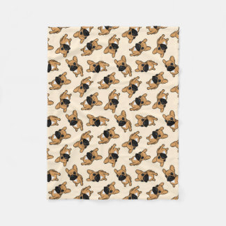Fawn Frenchie Puppy Fleece Blanket