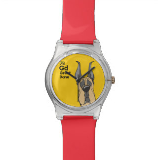 Fawn Great Dane Cropped Ears - The Dog Table Watch