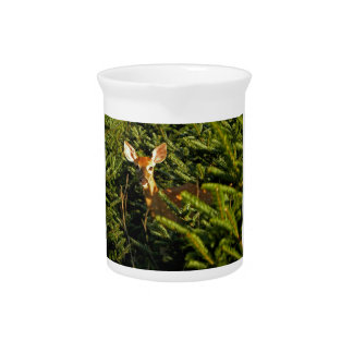 Fawn in Pine Trees Pitcher