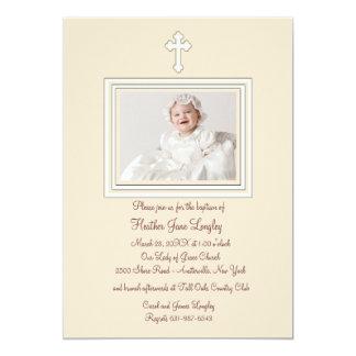 Fawn Photo Religious Invitation
