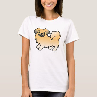 Fawn Sable Tibetan Spaniel Cartoon Dog T-Shirt