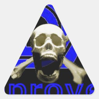 FDA Approved (Black) Triangle Sticker