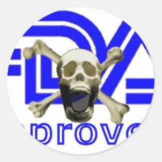 FDA Approved Round Sticker