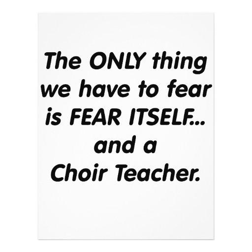 Fear choir Teacher Flyers