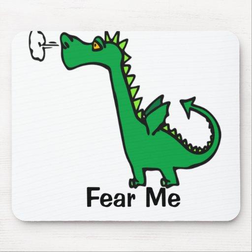 Fear Me Cartoon Dragon Mousepads