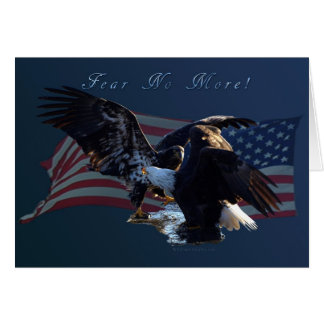 """Fear No More!"" Eagle/US Flag Gift Card"
