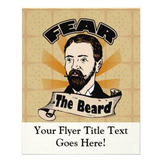 Fear the Beard, Funny Mustache 11.5 Cm X 14 Cm Flyer
