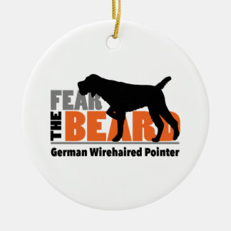 Fear the Beard - German Wirehaired Pointer Christmas Ornament