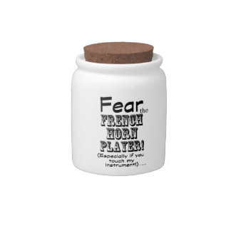 Fear The French Horn Player Candy Jars