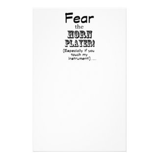 Fear The Horn Player Stationery Design