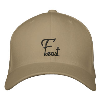 Feast cursive print hat embroidered cap