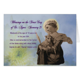 Feast day cards invitations zazzle feast day of st agnes greeting card name day m4hsunfo Images