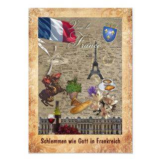 Feast like God in France 13 Cm X 18 Cm Invitation Card