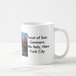 Feast of San Gennaro Little Italy, New York City Basic White Mug