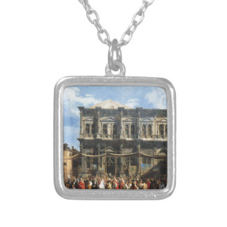 Feast of San Rocco by Canaletto Silver Plated Necklace