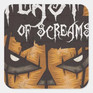 Feast Of Screams Square Sticker