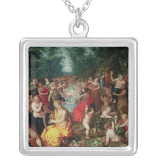 Feast of the Gods Silver Plated Necklace