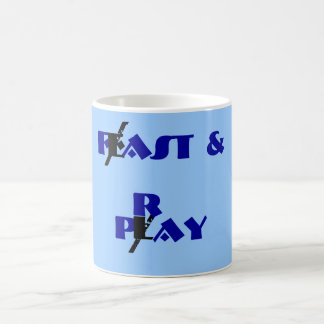 Feast & Play, Fast & Pray Basic White Mug