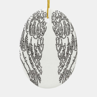 Feather of angel christmas ornament