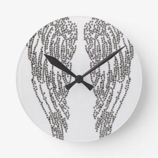 Feather of angel round clock