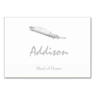 Feather Place Cards Table Card