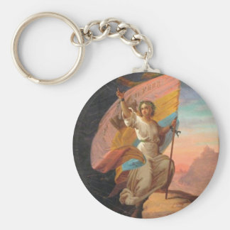 February 11th, 1866 - The Modern Romania Gheorghe Basic Round Button Key Ring