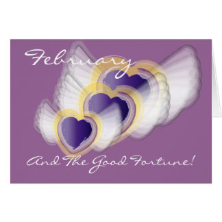February And The Good Fortune!-Customize Card