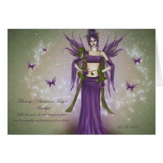 February Birthstone Fairy Card