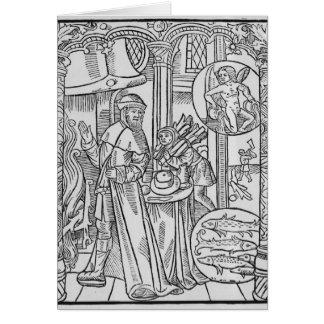 February, interior scene, Aquarius Card