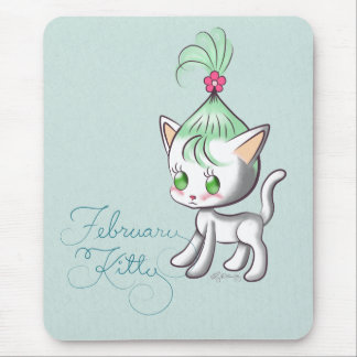 February Kitty Mouse Pads