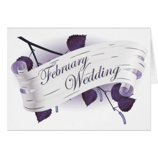 February Wedding : leaves of the season : Card