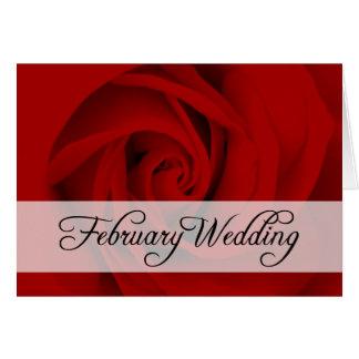 February Wedding : rose of the season : Card