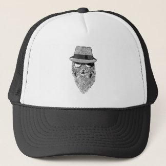 Fedora Bob Black and White Trucker Hat