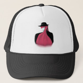 Fedora Man with red scarf Trucker Hat