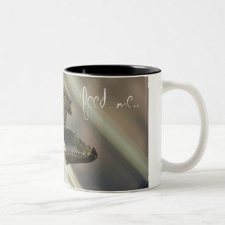 feed ME. Two-Tone Coffee Mug