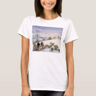 Feeding sheep in winter T-Shirt