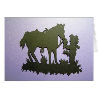 Feeding the horse card
