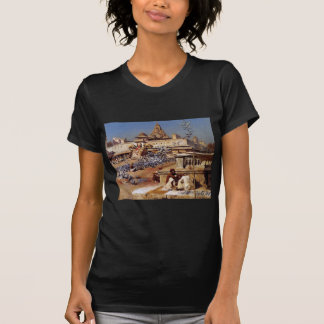 Feeding The Sacred Pigeons, Jaipur by Edwin Lord T-Shirt