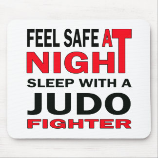 Feel safe at night sleep with a judo fighter mouse pad