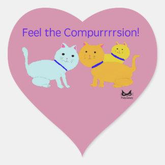Feel the Compurrrsion Heart Sticker