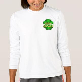 Feeling Lucky Girls white long sleeve T-shirt