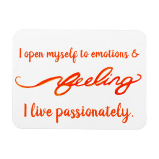 """Feeling"" Orange Sacral Chakra Words Magnet"