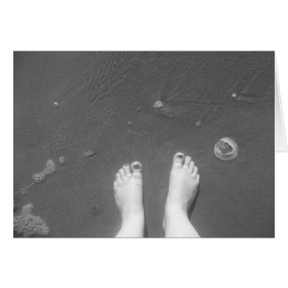 Feet on beach card