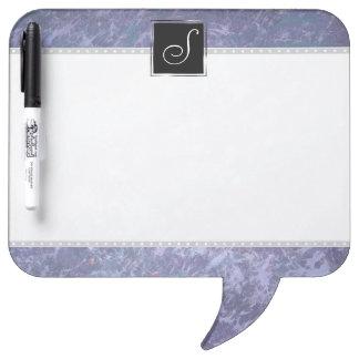 Feisty Kitchen | Monogram Purple Pastel Splatter | Dry Erase Board