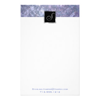 Feisty Office | Monogram Lavender Lilac Purple | Stationery