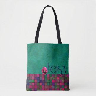 FEISTY - Teal, Purple, Pink - Handbag