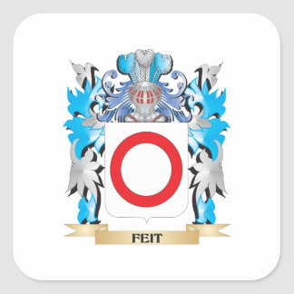 Feit Coat of Arms - Family Crest Square Sticker