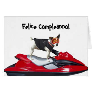 Felice Compleanno Jack Russell Terrier card